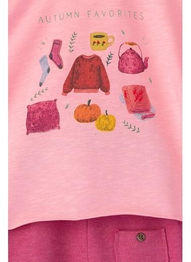Cigit Autumn Baskılı Takım Pembe